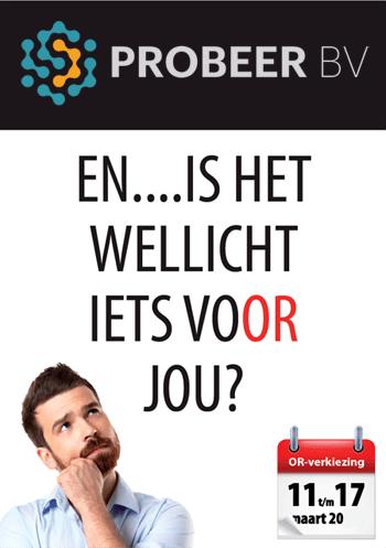 Campagne onderstuning Ondernemingsraad (poster)
